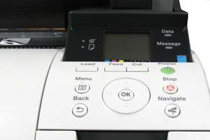 close up of control panel imagesetter